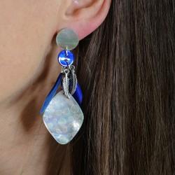 Boucles d'oreilles Plume Médium