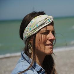 Bandeau - headband imprimé fleurs
