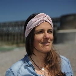 Bandeau - headband imprimé petites fleurs - rose